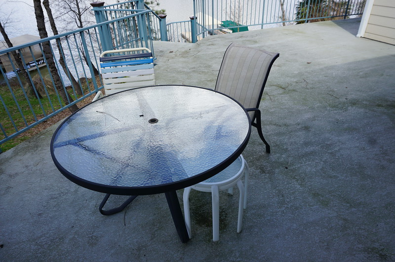 patio table with four chairs like the one on the right