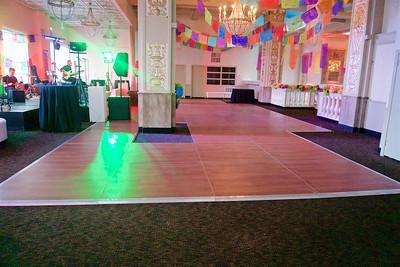 New England Wood Dancefloor 44ft w x 16ft d