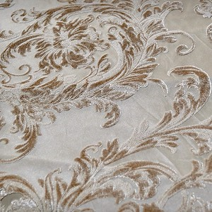 Victorian Jacquard Sheer, Champagne