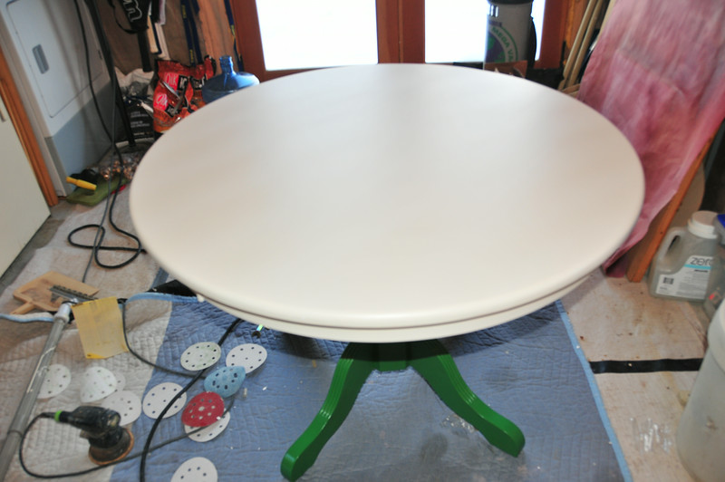 green table (before)