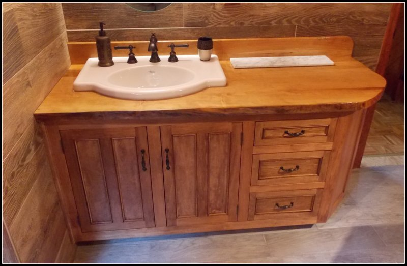 Cherry and stained Basswood Vanity