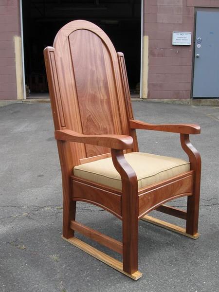 Sapele Presiders Chair