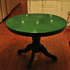 green table (after)<br /> cat's eye green with our famous clear coat