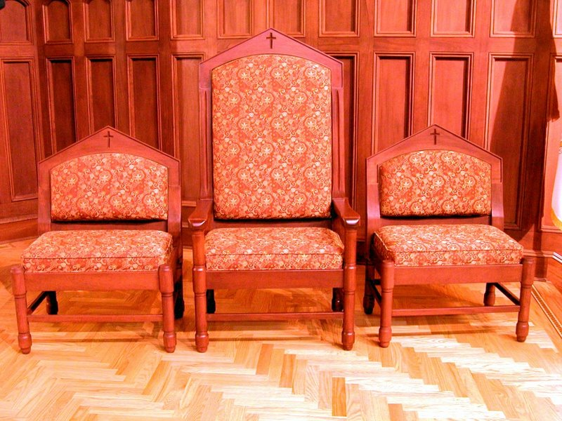 Mahogany  Presiders and Deacons Chairs