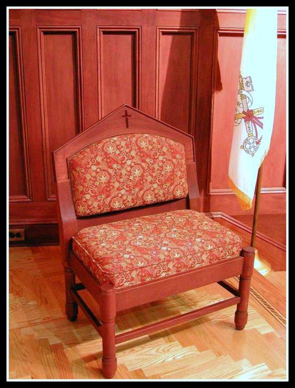 Mahogany  Deacons Chair