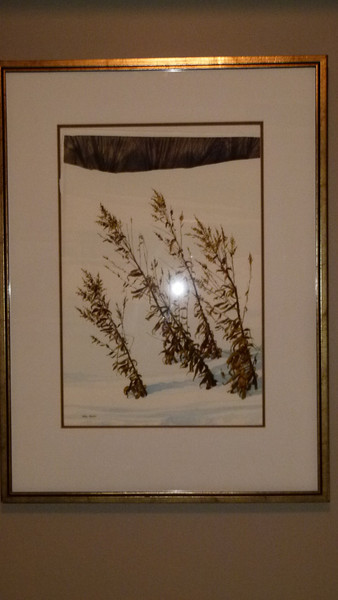 Weeds in Snow - Mel Heath - cost $750