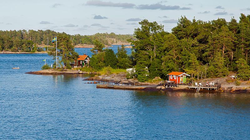 Summer houses in Stockholm archipelago
