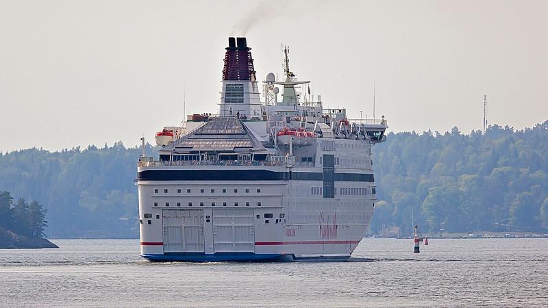 The ship Cinderalla in Furusundsleden, Stockholm archipelago.