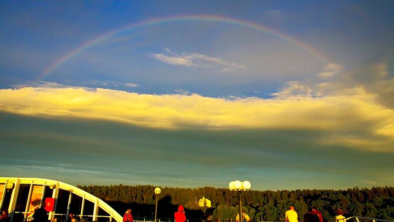 Rainbow in Stockholm archipelago