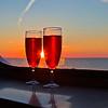 Sunset 9.14 PM over the Bailtic sea.