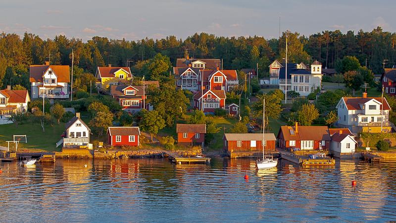 The village Furusund in Stockholm archipelago