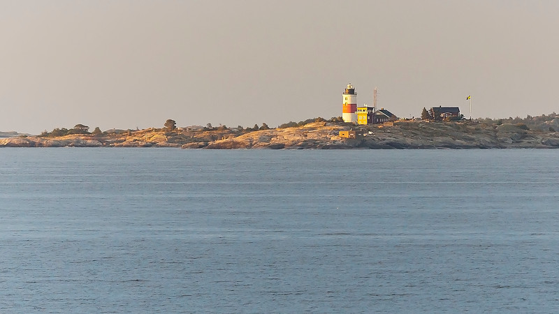 The first / last swedish island on the way to and from Baltic see and Finland captured very early in the morning.