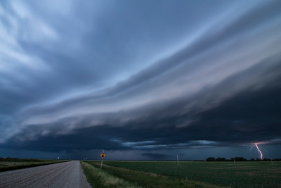 Shelf Cloud Near Kenaston, Saskathcewan
