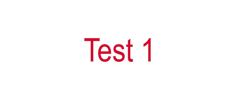 Test One