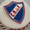 Torta de Nacional, escudo realizado en pastillaje y glase.
