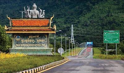 Entrance to Bokor Mountain