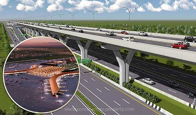 New airport flyover