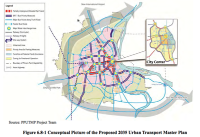 Phnom Penh proposed 2035 urban transport master plan