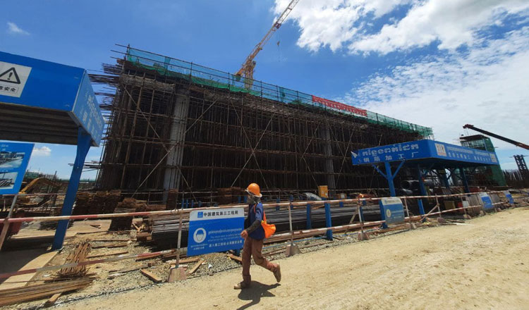 The construction of the .5 billion new Phnom Penh Airport is 40 percent complete