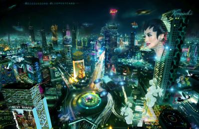 Jakarta Cyberpunk City