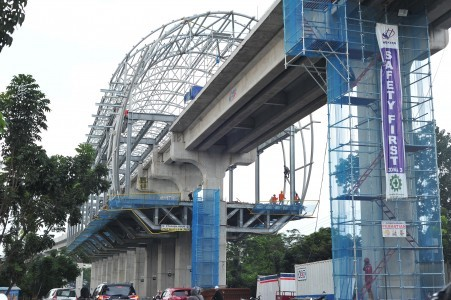 Palembang LRT Construction