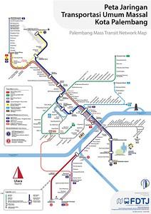 Palembang Mass Transit Network Map