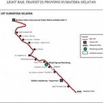 Palembang LRT Route