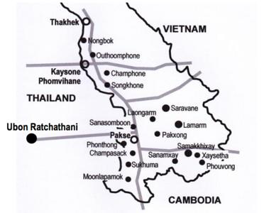 Pakse, Champasak proposed railways