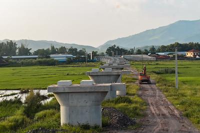 Railway work at Oudomxay