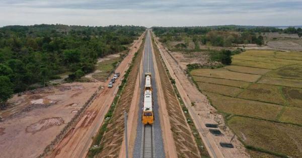 Laos-China Railway near Vientiane Station