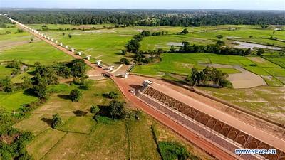 Nam Khone super major bridge in Vientiane, Laos