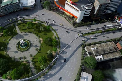 Monorail roundabout