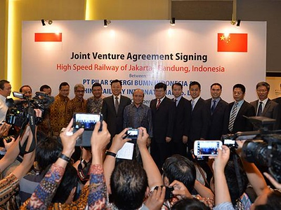 Ceremony launches construction of Jakarta – Bandung fast line