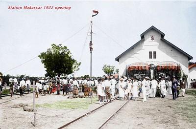 Makassar Station opening - 1922
