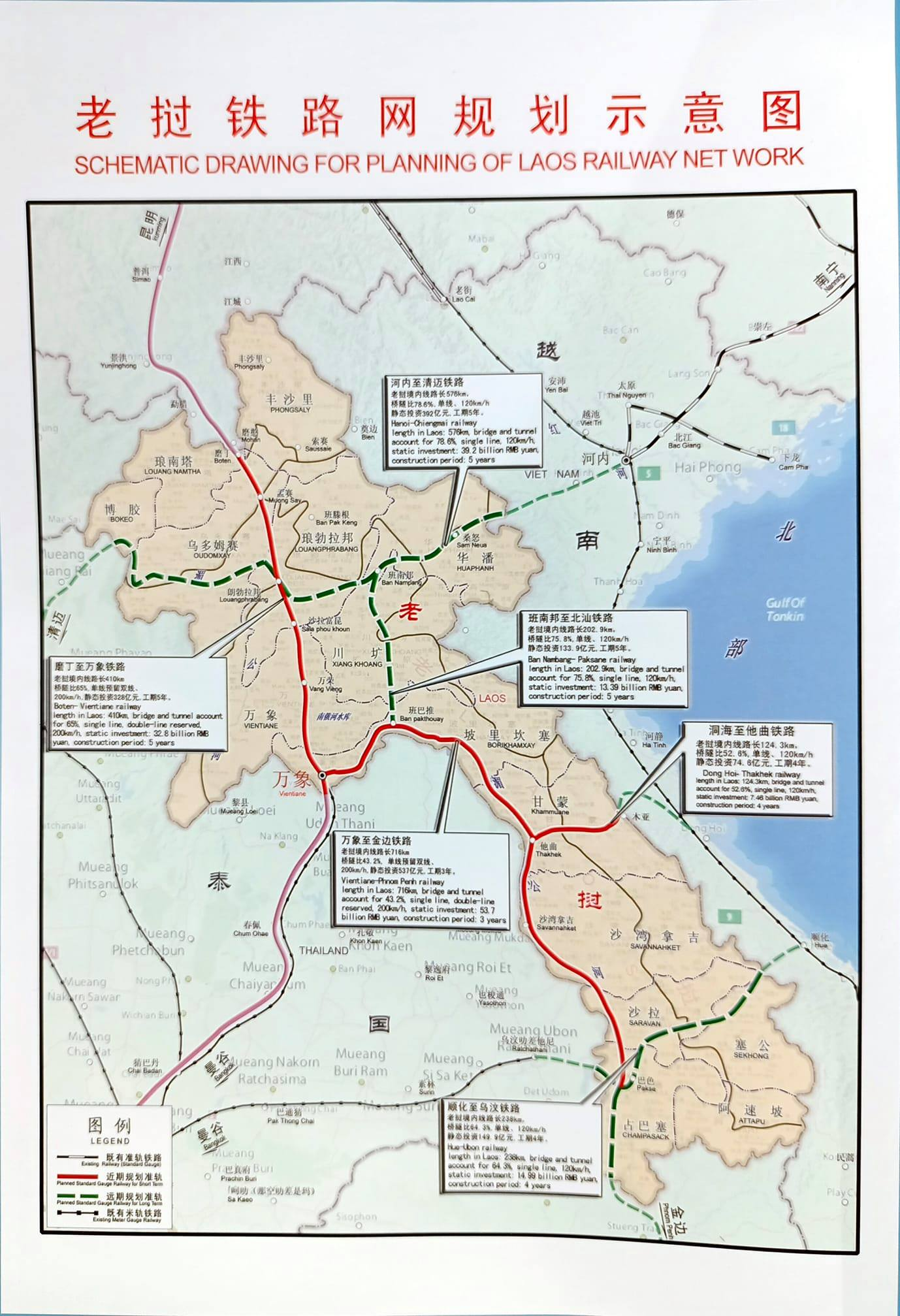 Schematic Drawing For Planning Of Laos Railway Network