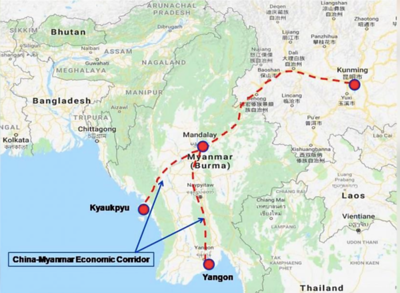 Kunming to Kyaukphyu railway project