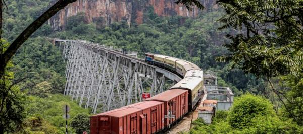 The Gokteik Viaduct on the Mandalay-Lashio railway