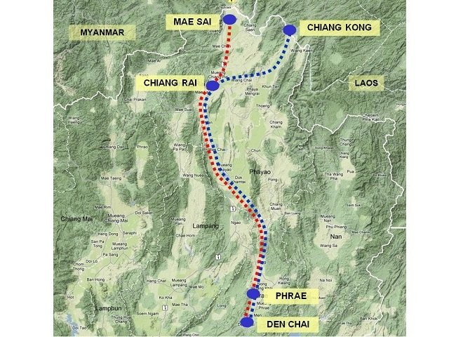 Den Chai to Chiang Rai Railway Line