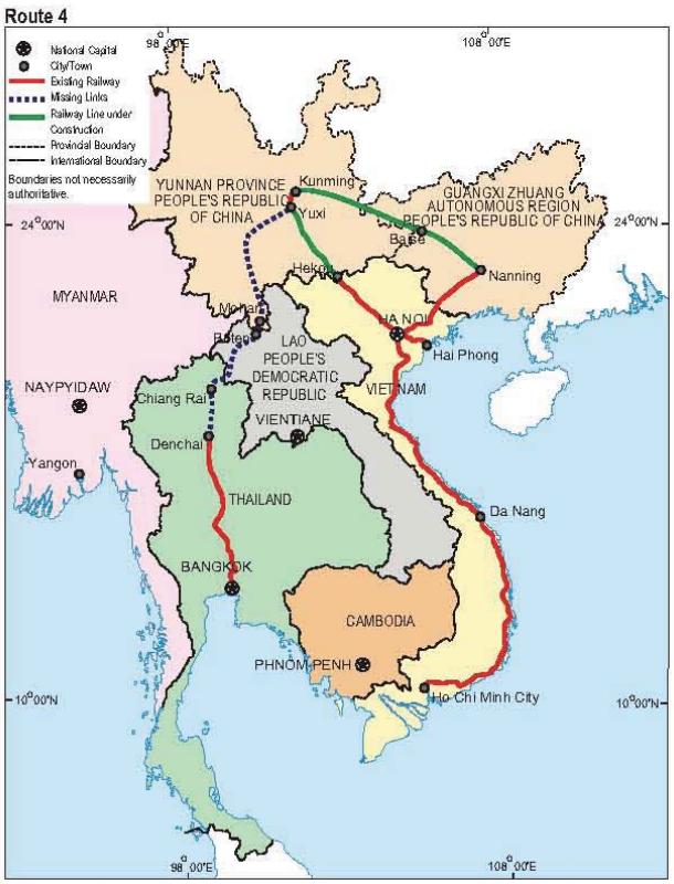 Route 4: Bangkok - Kunming
