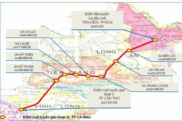 HCMC - Can Tho route map
