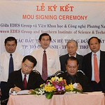 US-based EDES Group and Vietnam Southern Institute of Science and Technology signs the agreement to build a railway connecting HCMC and Can Tho City in South Vietnam