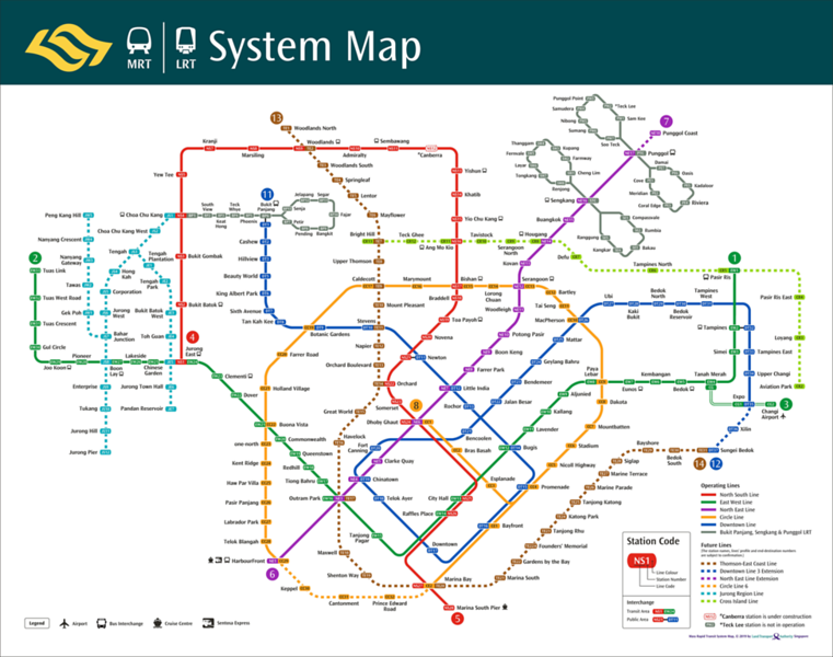 Singapore System Map 2040