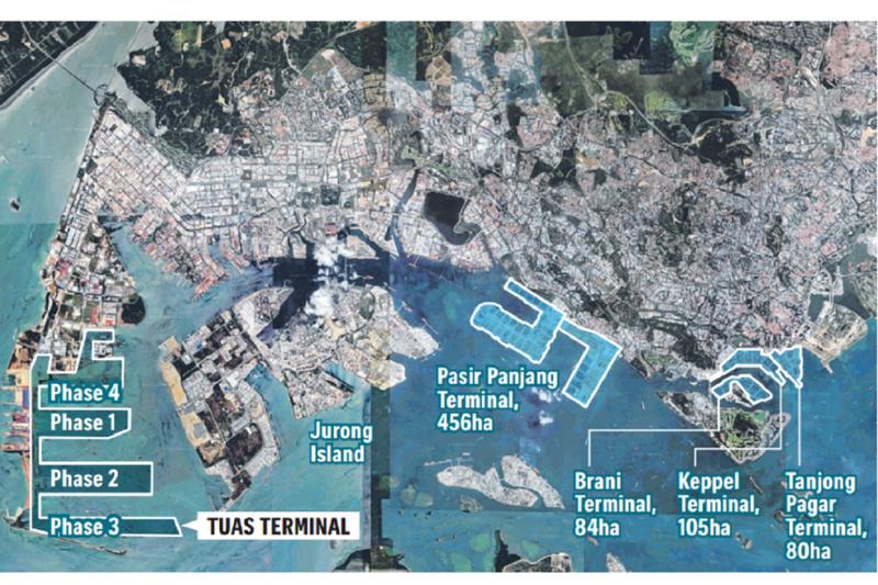 Map of Singapore Ports