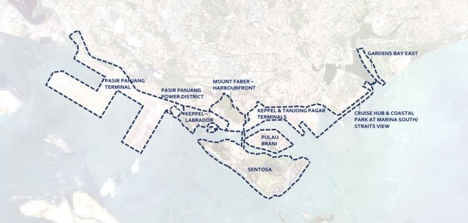 Greater Southern Waterfront Map