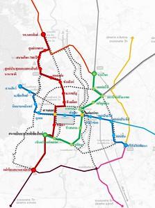Chiang Mai LRT Transit Map