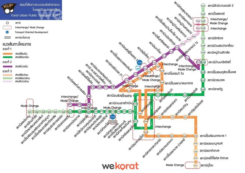 Korat Tram Map