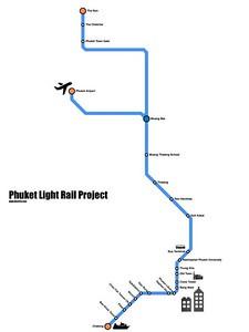 Phuket Light Rail Map