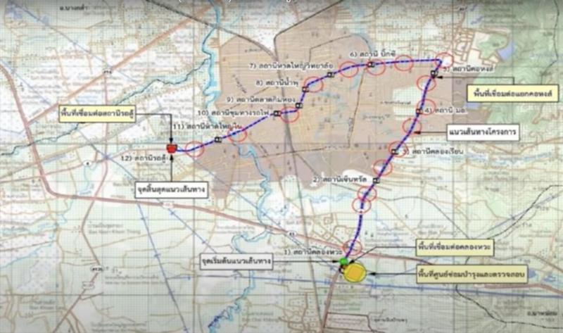 Hat Yai Monorail Map