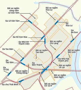 Ben Thanh Area Metro Map