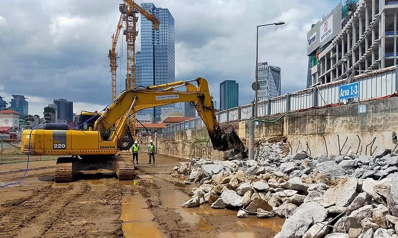 Saigon metro construction site to no longer block Ben Thanh Market